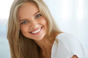 attractive woman smiling nice teeth