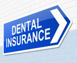 Dental insurance sign for visiting dentist.